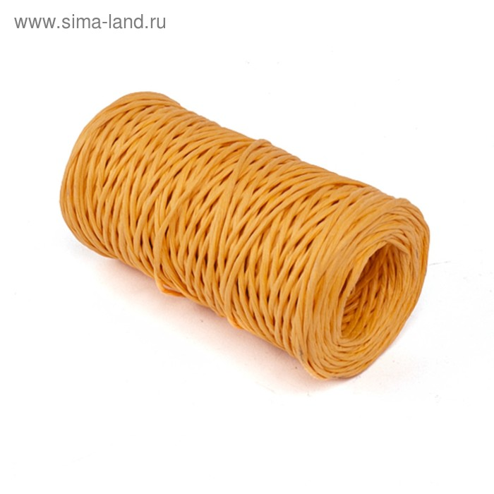 Проволока с бумажным покрытием 2 мм х 50 м, 100 г, оранжевый