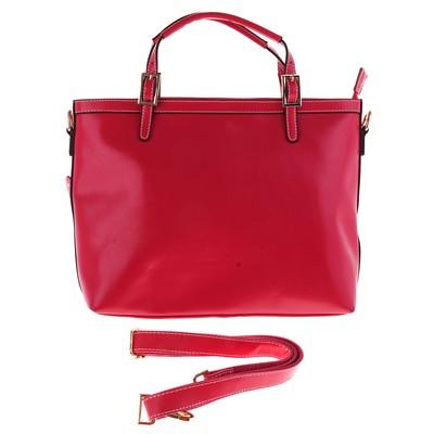 """Сумка женская """"Мэри"""", 2 отдела, 1 наружный карман, длинный ремень, розовая"""