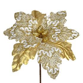Пуансетия «Дабл шик» 25 х 25 см, золотой