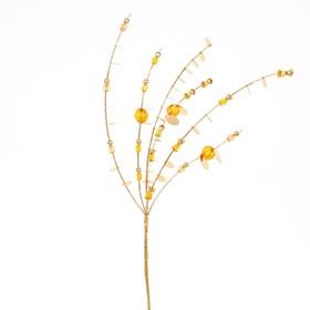 Ветвь декоративная «Эвкалипт» 45 см, золотой