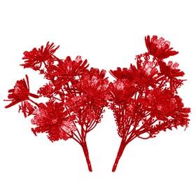 Букет цветов протеи в блёстках, набор 2 шт, красный