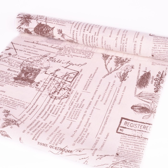 Бумага на льне «История цветов» 0,49 х 4 м