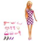 Кукла модель «Арина» в платье, с аксессуарами, в пакете