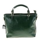 """Сумка женская """"Мэри"""", 2 отдела, 1 наружный карман, длинный ремень, зелёная"""