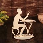 Салфетница «Мужчина за столиком», 19×15,5×0,3 см