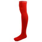 Гетры для хоккея с мячом с носком детские, цвет красный