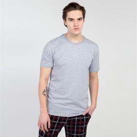 Футболка мужская БК-136 цвет серый, р-р 48