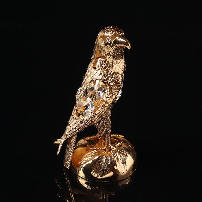 Сувенир «Орёл», 5×6×11 см, с кристаллами Сваровски