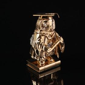 Сувенир «Сова магистр», 4×4×7,5 см, с кристаллами Сваровски