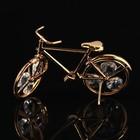 Сувенир «Велосипед», 10,5×2,5×6 см, с кристаллами Сваровски