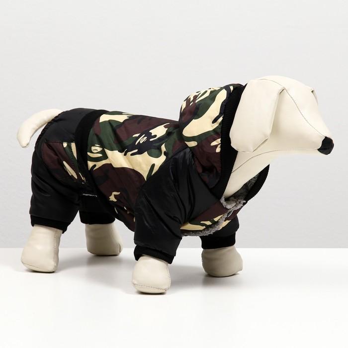 Комбинезон для собак на меховом подкладе, размер L