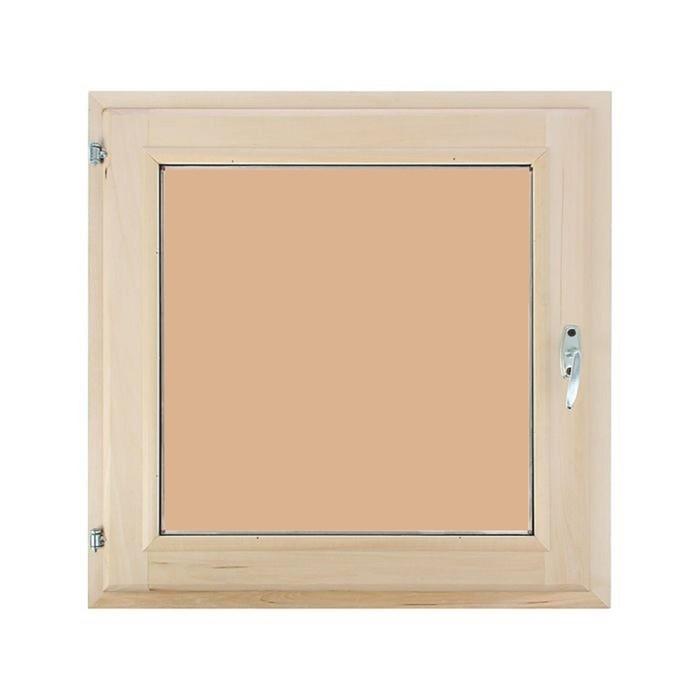 Окно 100х100 см, двойной стеклопакет, тонированное, уплотнитель