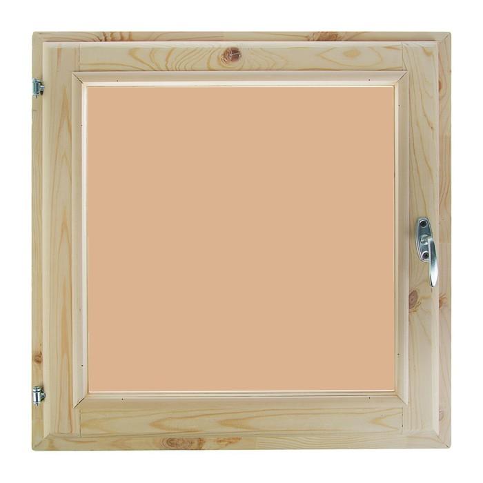 Окно 60х60 см, двойной стеклопакет, тонированное, хвоя