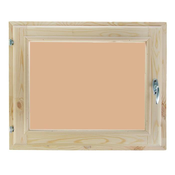 Окно 60х70 см, двойной стеклопакет, тонированное, уплотнитель, хвоя