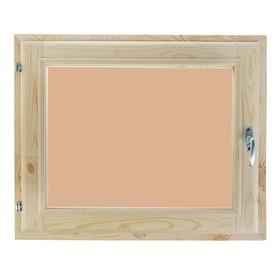Окно, 70×100см, однокамерный стеклопакет, тонированное, из хвои