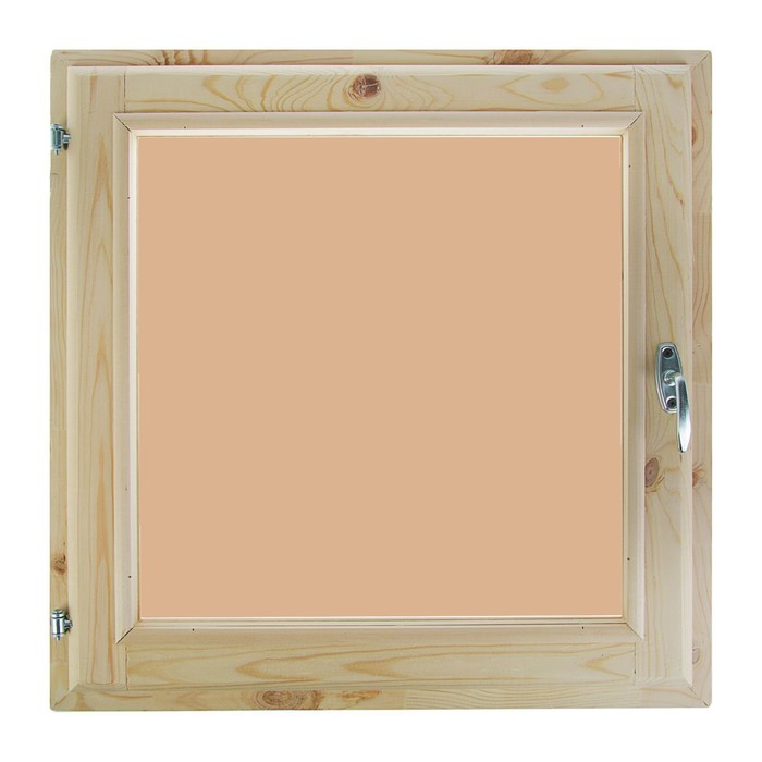 Окно 80х80 см, двойной стеклопакет, тонированное, хвоя