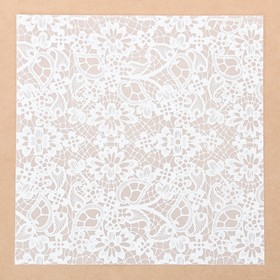 "Tracing decorative ""Lace"" , 20 x 20 cm"