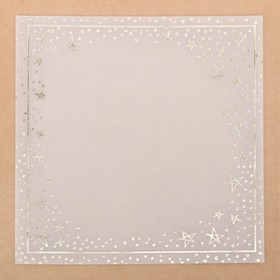 """Vellum for scrapbooking with foiling """"Starfall"""" , 20 x 20 cm"""