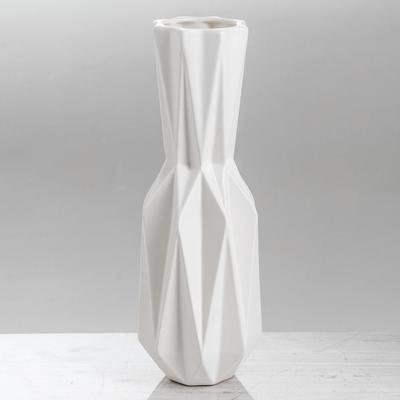 Ваза «Оригами», белая, геометрическая
