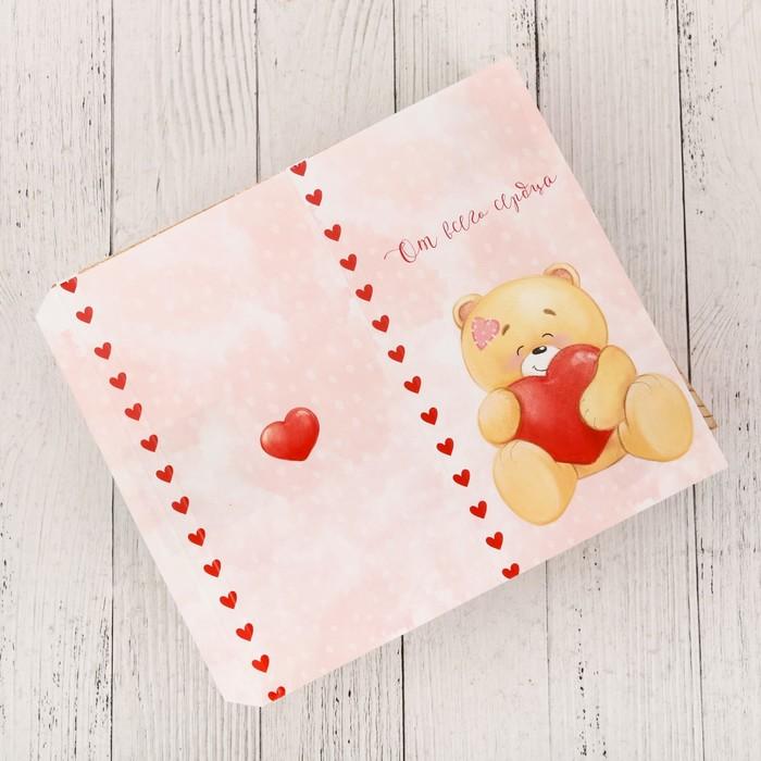 Обёртка для шоколада «Медведь», 18.2 × 15.5 см - фото 152645886