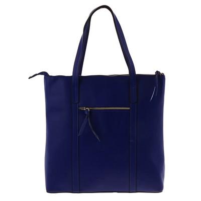 """Сумка женская""""Стрелочки"""" 1 отдел на молнии, наружный карман, длинный ремень, синий"""