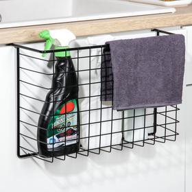 Basket mesh mounting rack, color black