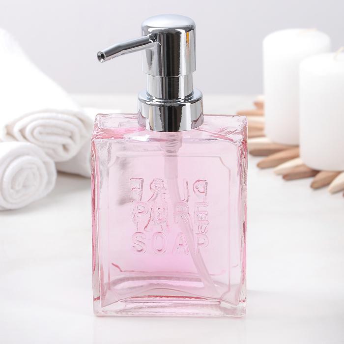 """Дозатор для жидкого мыла """"Геометрик"""", цвет розовый"""