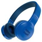Наушники с микрофоном JBL E45BT, накладные, беспроводные, Bluetooth, работа до 12 ч., синие