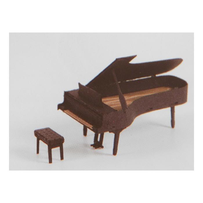 """Модель 3D """"Пианино"""" из бумаги с лазерной резкой"""