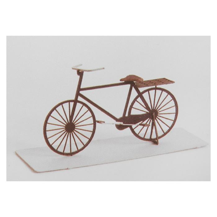 """Модель 3D """"Велосипед"""" из бумаги с лазерной резкой"""