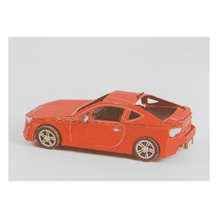 """Модель 3D """"Машина"""" из бумаги с лазерной резкой"""
