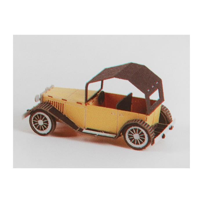 """Модель 3D """"Винтажная машина"""" из бумаги с лазерной резкой"""