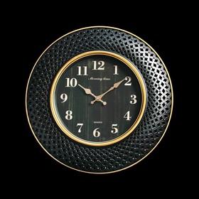 """Часы настенные, серия: Интерьер, """"Претория"""", рама черная, d=40 см"""