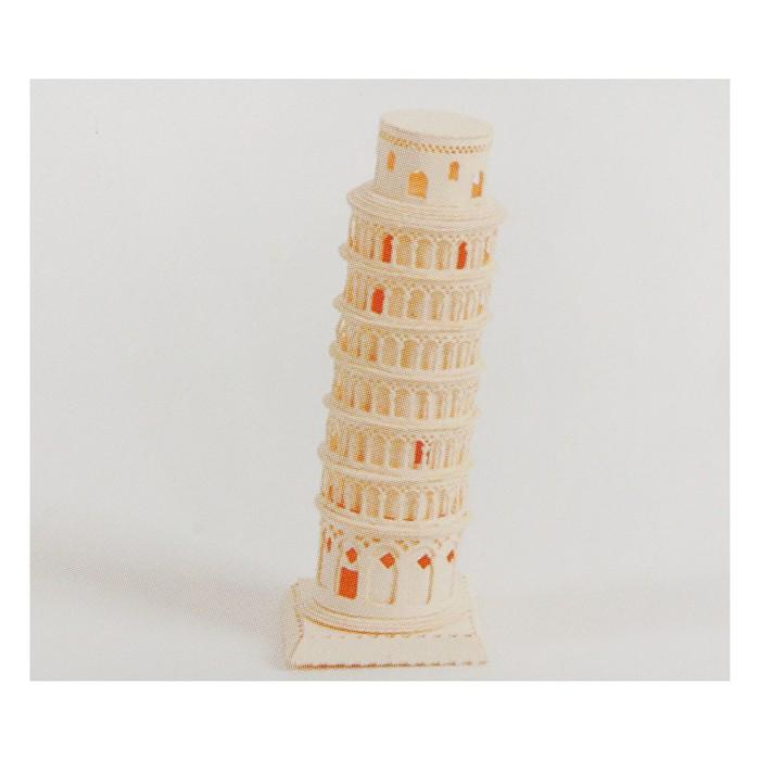 """Модель 3D """"Пизанская башня"""" из бумаги с лазерной резкой"""