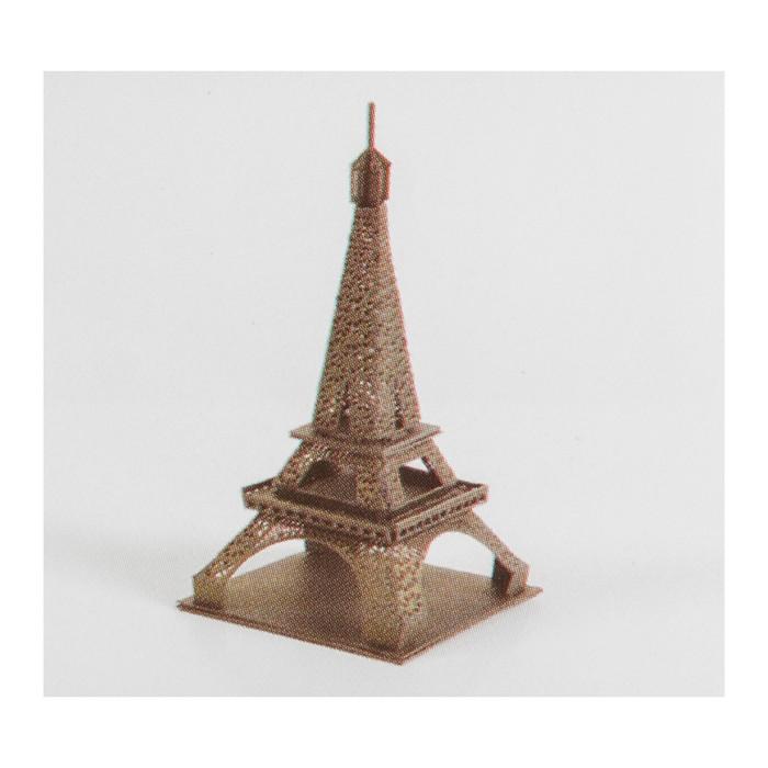 """Модель 3D """"Эйфелева башня"""" из бумаги с лазерной резкой"""