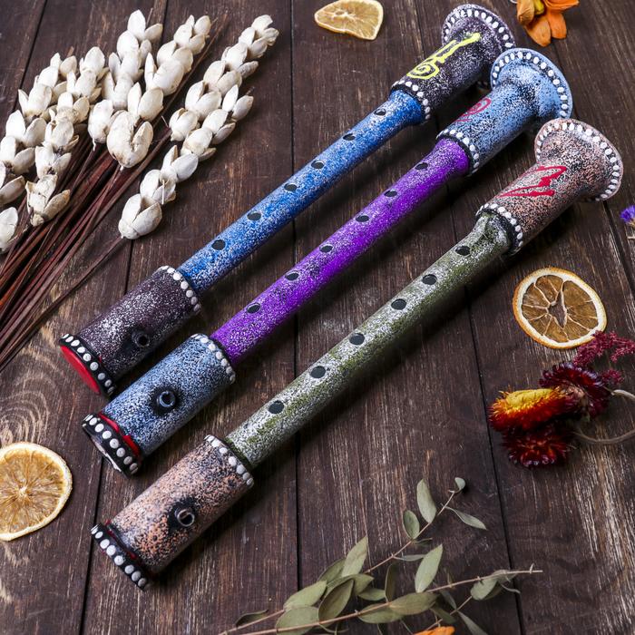 Музыкальный инструмент Флейта дерево албезия 35 см МИКС