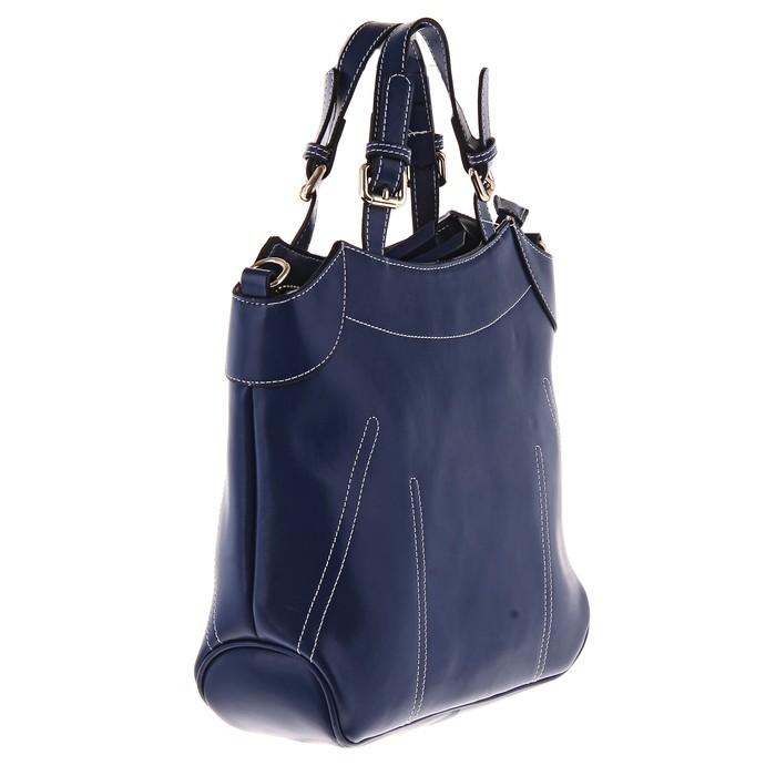 """Сумка женская """"Алина"""" 1 отделение, наружный карман, длинный ремень, синий"""
