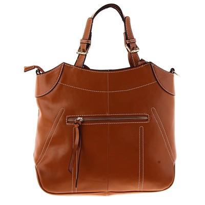"""Сумка женская """"Алина"""" 1 отдел, наружный карман, длинный ремень, светло-коричневый"""