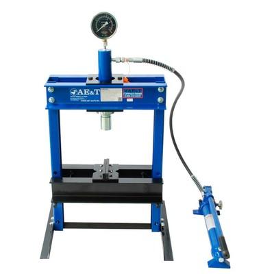 Пресс гидравлический AE&T T61210, 10 т, ход 135 мм, ручной насос, подъем станины 358 мм