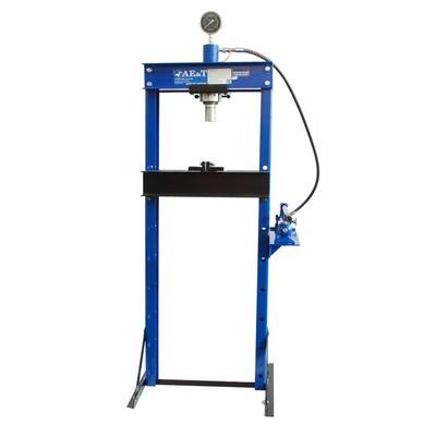 Пресс гидравлический AE&T T61220, с манометром, 20 т, ход 145 мм, ручной насос