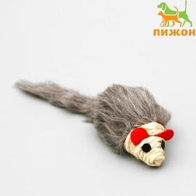 """Игрушка для кошек """"Серая мышь"""", 8 см"""