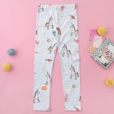 """Легинсы для девочки MINAKU """"Сказка"""", рост 86-92 см, цвет серый"""