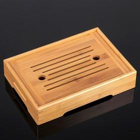 Стол для чайной церемонии с подносом «Простота», 27×19×5,5 см