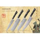 """Набор ножей """"Samura HARAKIRI"""" 5 предм. (лезвие - 99/150/161/175/208 мм), черная рукоять 15728"""