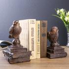 """Держатели для книг """"Птички на старых книгах"""" набор 2 шт 21х15,3х13 см"""