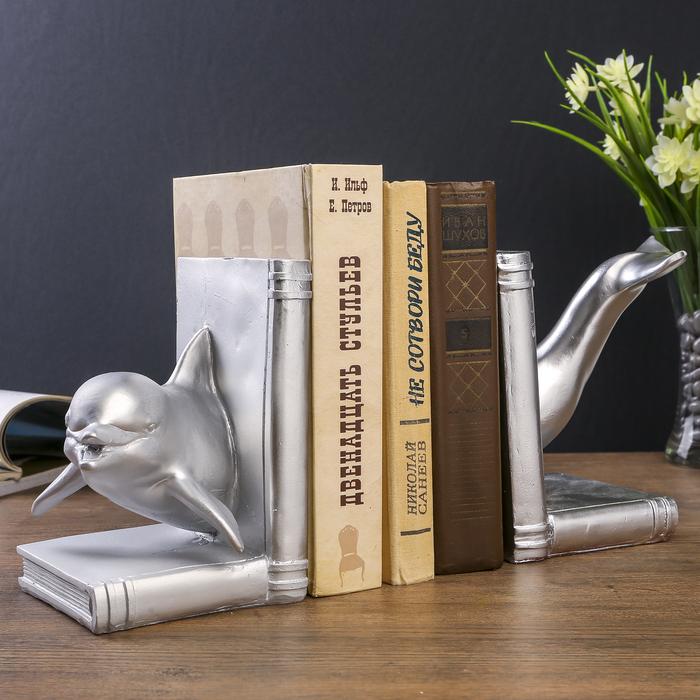 """Держатели для книг """"Дельфин"""" набор 2 шт 17х28х23 см - фото 798106695"""