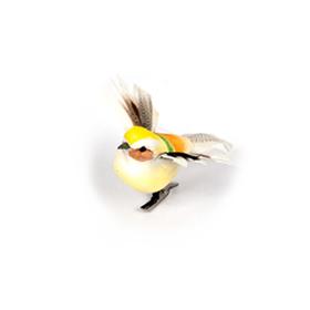 Пташки на прищепке, 5 х 9 см, набор 6 штук, микс