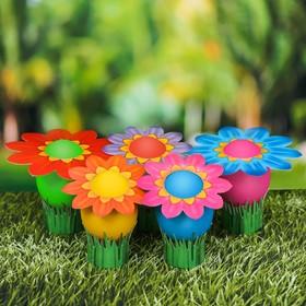 """Пасхальный набор с красителем """"Цветочная поляна"""", 13 х 18 см"""