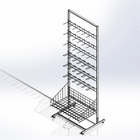 Checkout stand is a base 64 cm, with 6-pin comb and hooks, white