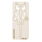 """Чипборд картон """"Ножницы-совушка"""" с завитками, 11,3 см"""